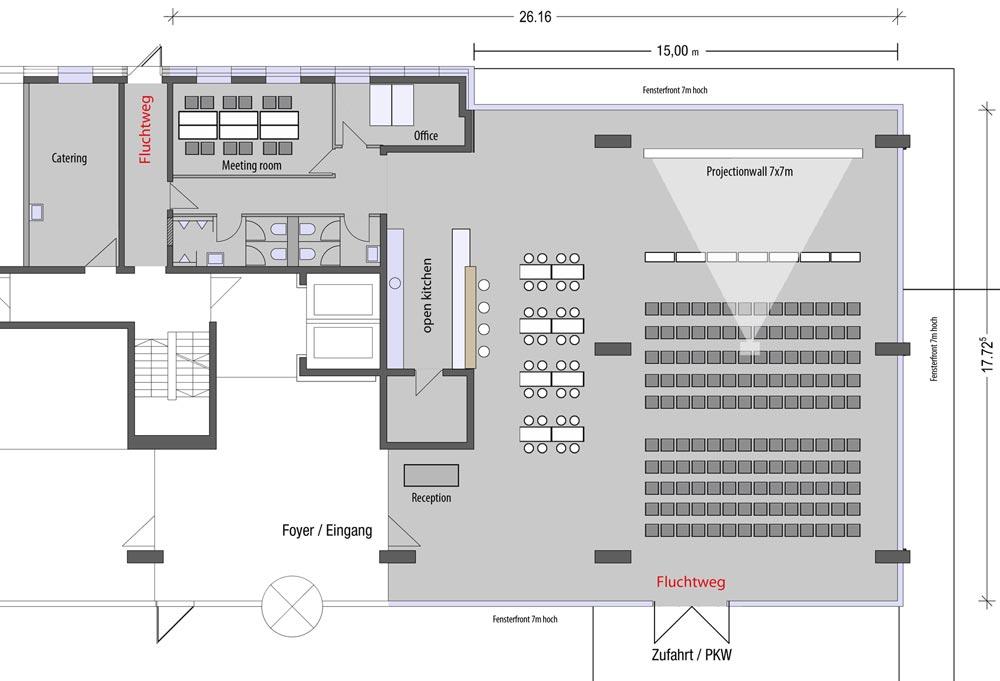 Grundriss des Studio Balan - Eventlocation in München